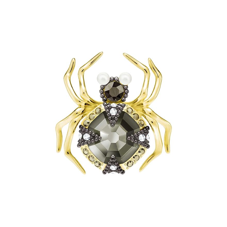 Swarovski Crystal Spider Brooch