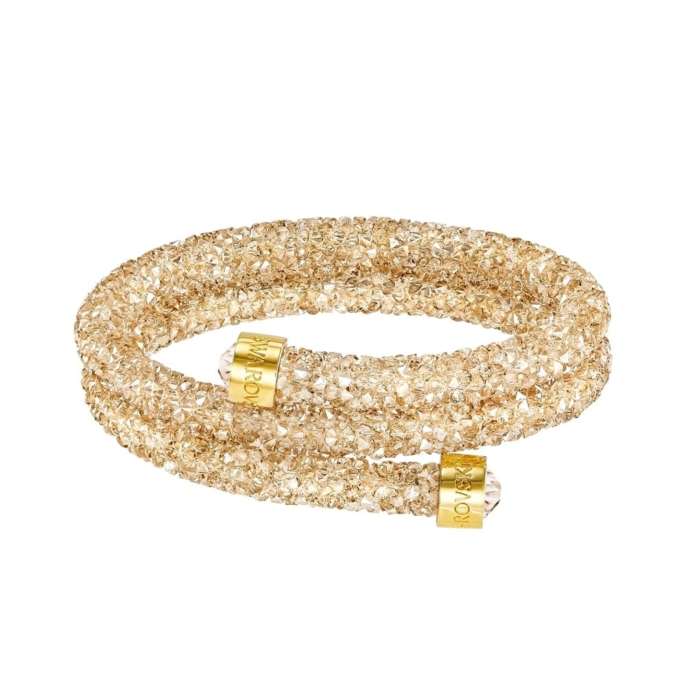 Swarovski Crystaldust Double Golden Bracelet 5250023 Hadleigh Jewellery and  Gifts bb5f147c7611